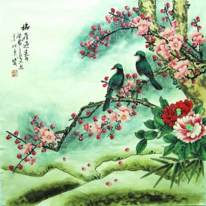 chinese peonies and birds for friendship 2